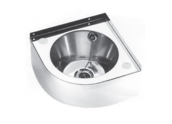 SSCB5000 Stainless Steel Wall Mounted Corner Wash Basin