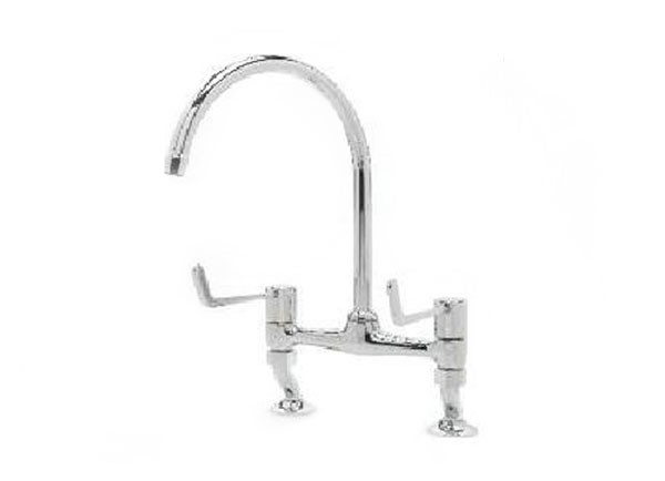 MSA/TM3617-3 / 6 Dual flow bridge pillar sink mixer tap with dual levers