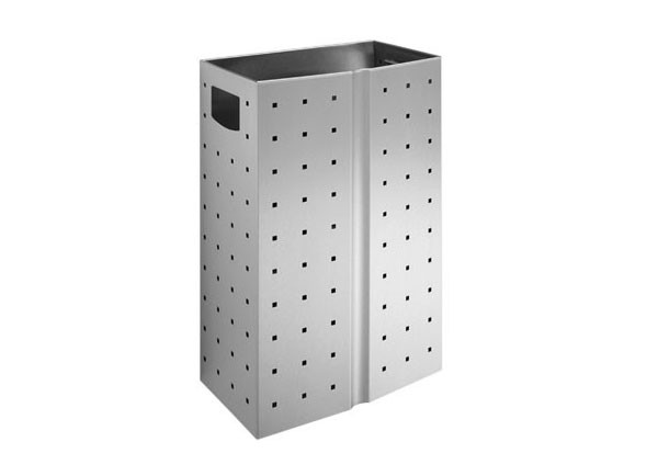 SS/L186 Luxury perforated waste bin - 24 litres