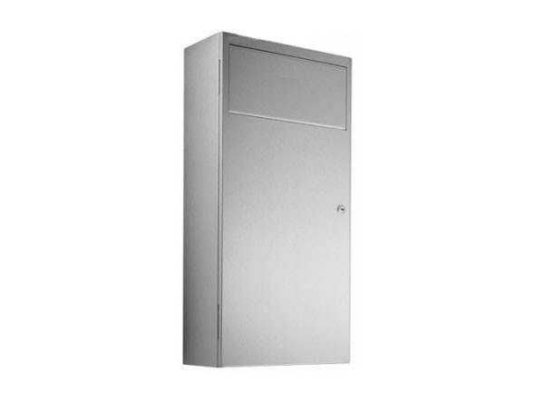 SS/WP133 Luxury Waste bin with lockable housing door - 12 litres