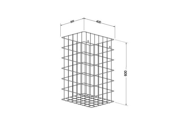 SS/WP150-1 Luxury Stainless steel Wire frame waste basket - 72 litres