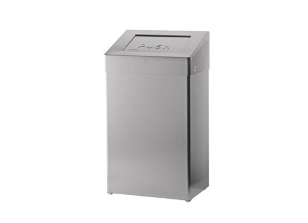 SS/ABU18 E/P Self Closing Waste Bin - 18 litres
