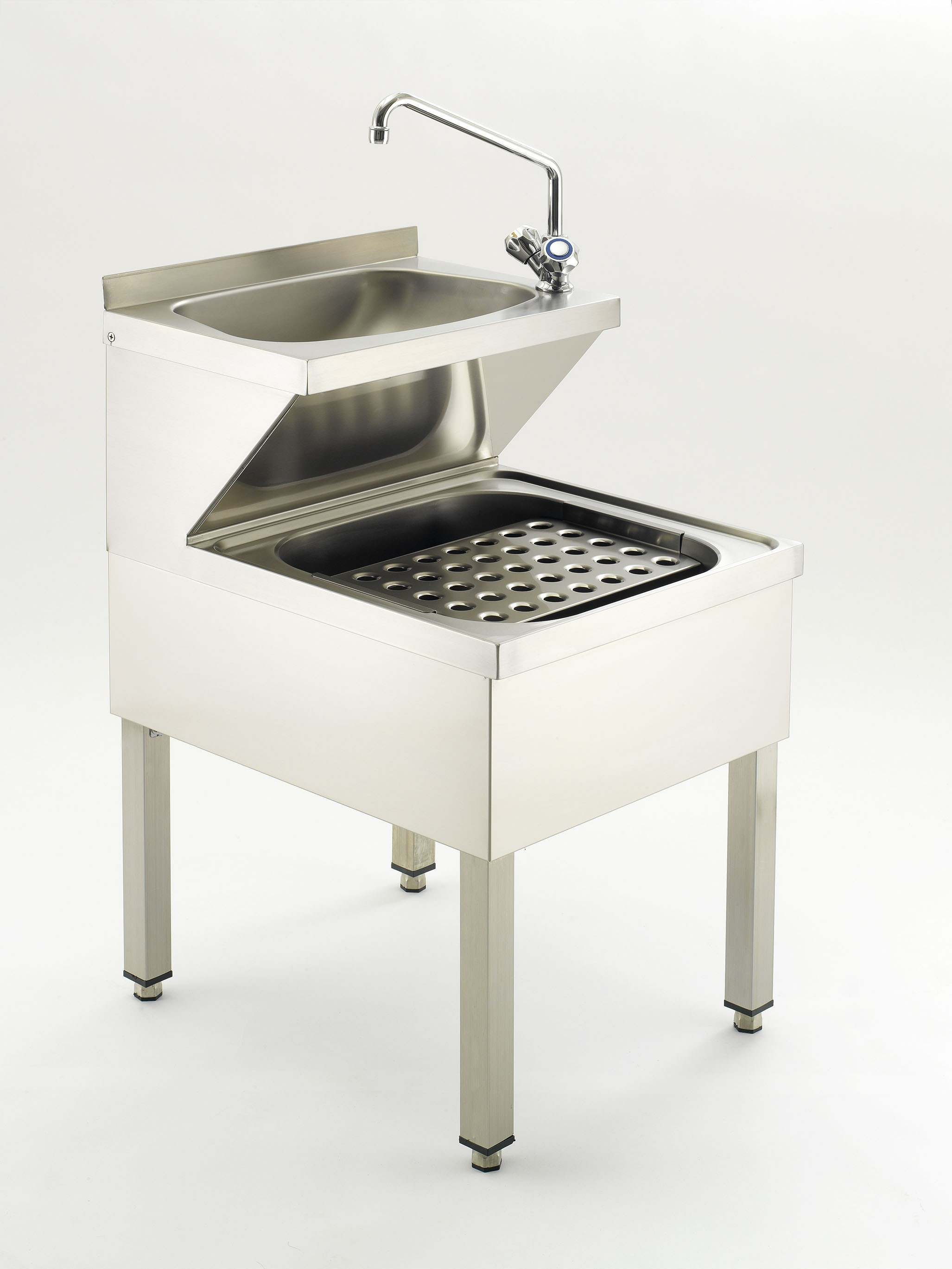 SS/BS6666/JBS/VS Free Standing Two Tier Janitors Bucket Sink