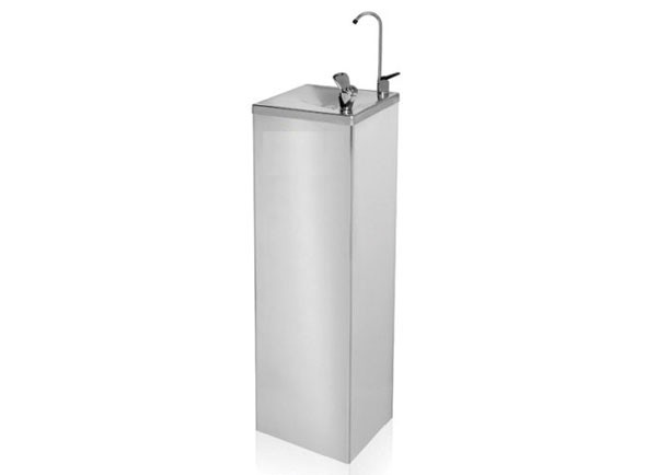 SS/6282CHILL-FS Stainless steel floor standing chilled drinking water fountain with bottle filler