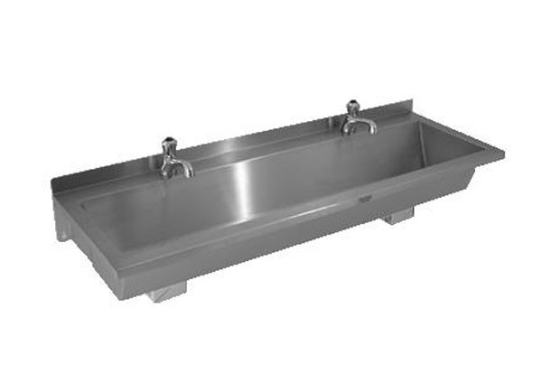 SS81 STAINLESS STEEL WASH TROUGH SINK BASIN BOWL WALL MOUNTED TAP ...