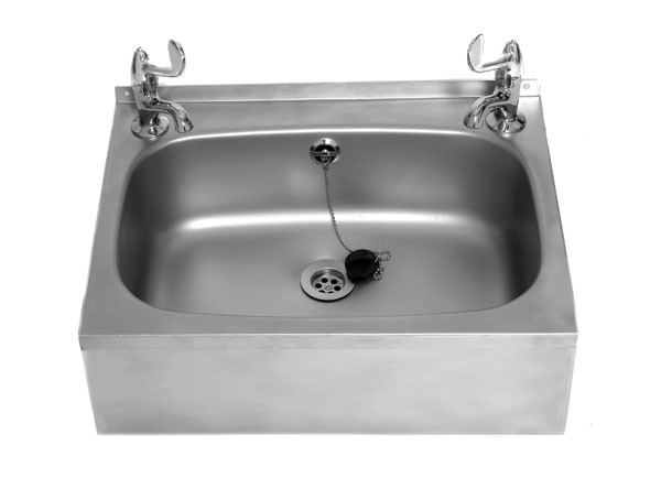 SS/SC Wash Basin with two tap holes