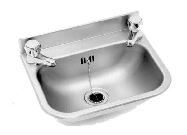 SS/WP10 Wash Basin with two tap holes