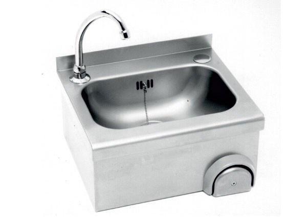 SS/WP30B Wash Basin with an Integral Knee Operated Valve